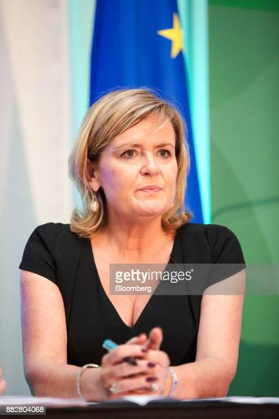 Deirdre Somers chief executive officer of Irish Stock Exchange Plc pauses during a news conference at the Irish Stock Exchange in Dublin Ireland on...