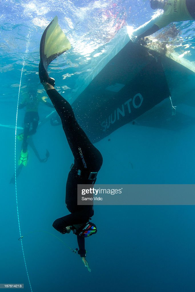 Deisy Marquez of Venezuela in action during the Suunto free diving world cup on November 24, 2012 in Long Island, Bahamas.