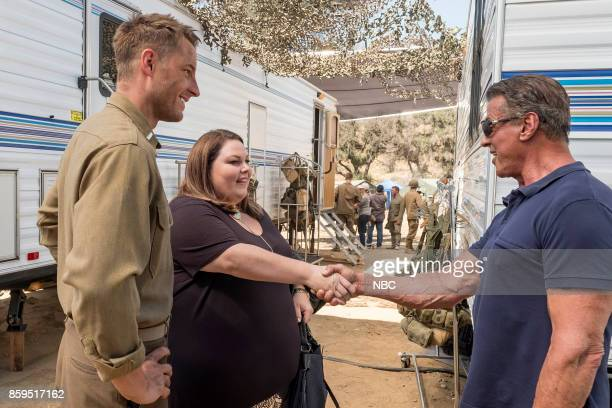 US 'Deja Vu' Episode 203 Pictured Justin Hartley as Kevin Pearson Chrissy Metz as Kate Pearson Sylvester Stallone as Himself