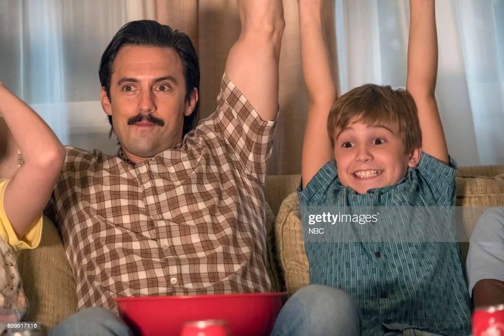 US -- 'Deja Vu' Episode 203 -- Pictured: (l-r) Parker Bates as Kevin Pearson, Milo Ventimiglia as Jack --