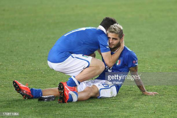 A dejacted Lorenzo Insigne of Italy after the UEFA European U21 Championships Final match between Spain and Italy at Teddy Stadium on June 18 2013 in...