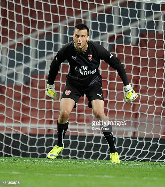 Dejan Iliev of Arsenal during the Barclays U21 Premier Reserve Legue match between Arsenal U21 and West Bromwich Albion U21 at Emirates Stadium on...