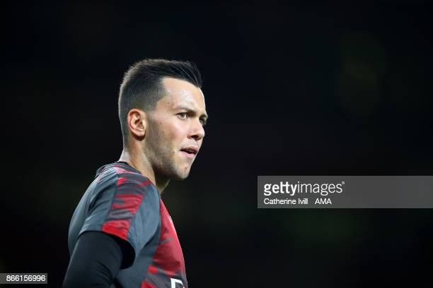 Dejan Iliev of Arsenal during the Carabao Cup Fourth Round match between Arsenal and Norwich City at Emirates Stadium on October 24 2017 in London...