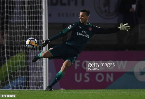 Dejan Iliev of Arsenal during the match between Arsenal U23 and Porto at Meadow Park on November 17 2017 in Borehamwood England
