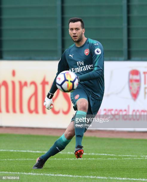 Dejan Iliev of Arsenal during the match between Arsenal U23 and Watford U23 at London Colney on August 8 2017 in St Albans England