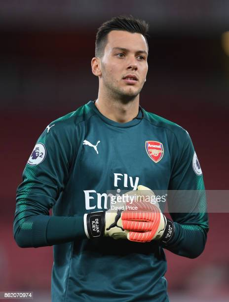 Dejan Iliev of Arsenal during the Premier League 2 match between Arsenal and Sunderland at Emirates Stadium on October 16 2017 in London England