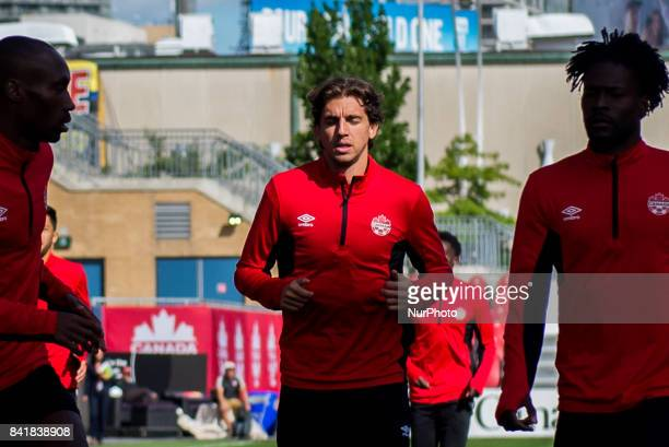 Dejan Jakovi during open training session conference in Toronto before the CanadaJamaica Mens International Friendly match at BMO Field in Toronto...