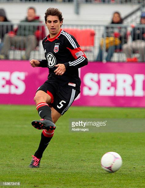 Dejan Jakovic of DC United carries the ball during MLS action against the Toronto FC at BMO Field October 6 2012 in Toronto Ontario Canada