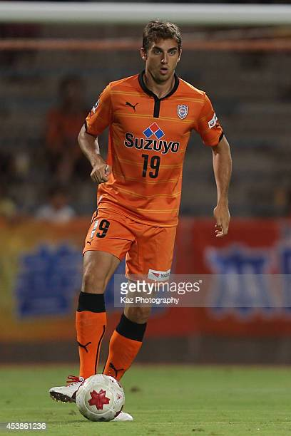 Dejan Jakovic of Shimizu SPulse in action during the Emperor's Cup third round match between Shimizu SPulse and Consadole Sapporo at IAI Stadium...