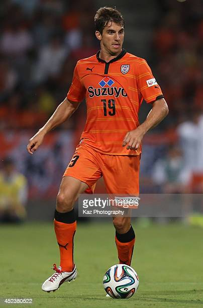 Dejan Jakovic of Shimizu SPulse in action during the J League 2014 match between Shimizu SPulse and Kawasaki Frontale at IAI Stadium Nihondaira on...