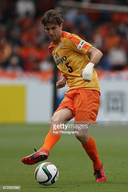 Dejan Jakovic of Shimizu SPulse in action during the JLeague match between Shimizu SPulse and Sagan Tosu at IAI Stadium Nihondaira on May 6 2015 in...