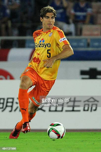 Dejan Jakovic of Shimizu SPulse in action during the JLeague match between Yokohama FMarinos and Shimizu SPulse at Nissan Stadium on July 29 2015 in...