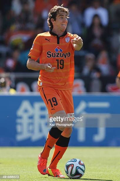 Dejan Jakovic of Shimizu SPulse in action during the JLeague match between Shimizu SPulse and Vissel Kobe at IAI Stadium Nihondaira on May 17 2014 in...