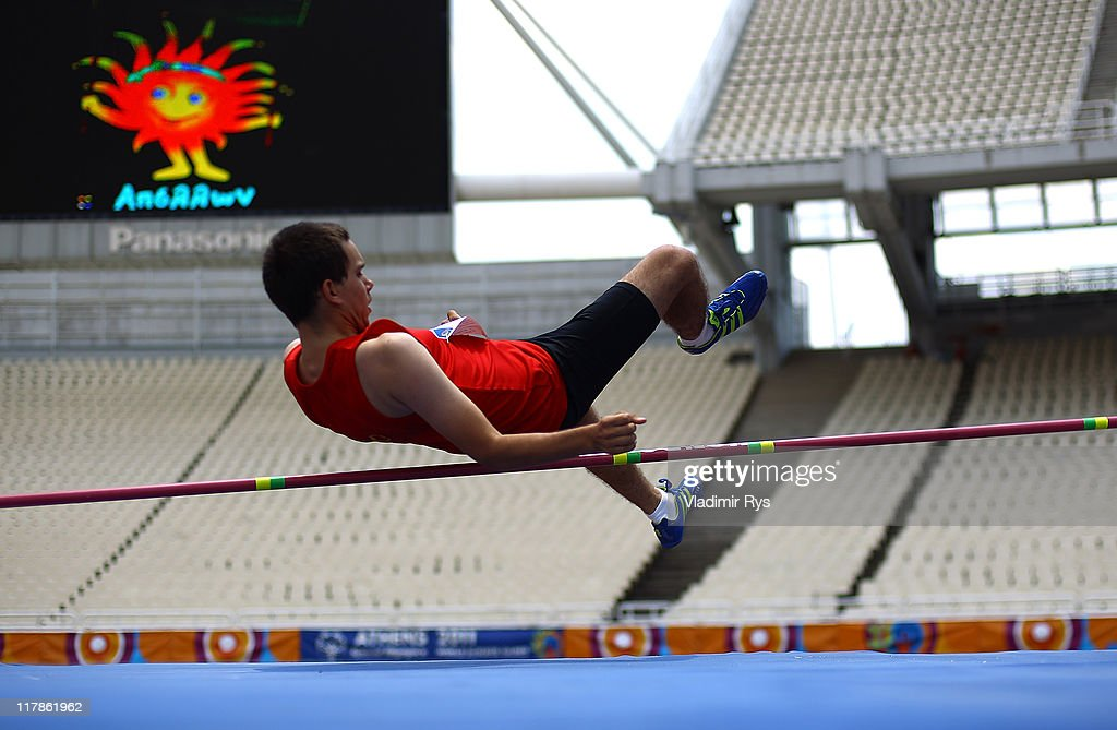 Dejan Janssens of Belgium in action during the high jump competition of the Athens 2011 Special Olympics World Summer Games on July 1, 2011 in Athens, Greece.