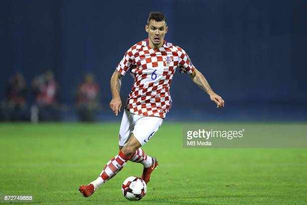 Dejan Lovren of Croatia controls the ball during the FIFA 2018 World Cup Qualifier playoff first leg match between Croatia and Greece at Maksimir...