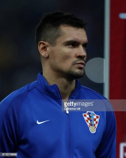 Dejan Lovren of Croatia during the FIFA 2018 World Cup Qualifier PlayOff Second Leg between Greece and Croatia at Karaiskakis Stadium on November 12...