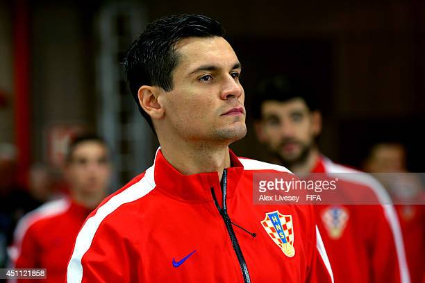 Dejan Lovren of Croatia is seen in the tunnel prior to the 2014 FIFA World Cup Brazil Group A match between Croatia and Mexico at Arena Pernambuco on...