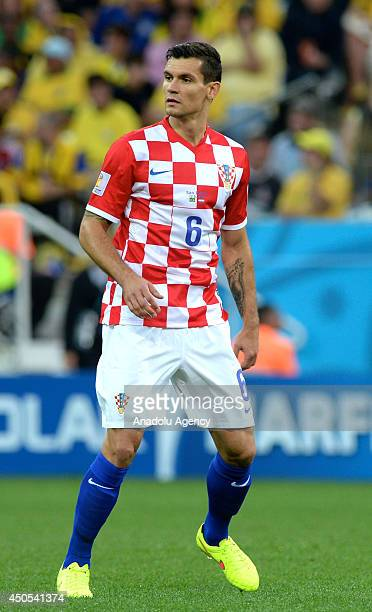 Dejan Lovren of Crotia is seen during the 2014 FIFA World Cup Brazil Group A match between Brazil and Croatia at Arena de Sao Paulo on June 12 2014...
