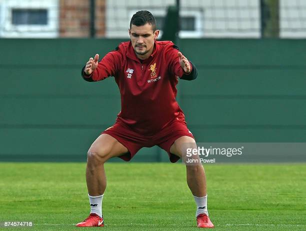 Dejan Lovren of Liverpool during a training session at Melwood Training Ground on November 15 2017 in Liverpool England