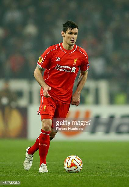 Dejan Lovren of Liverpool during the 2nd leg of the UEFA Europa League Round of 32 match between Besiktas and Liverpool at the Ataturk Olympic...