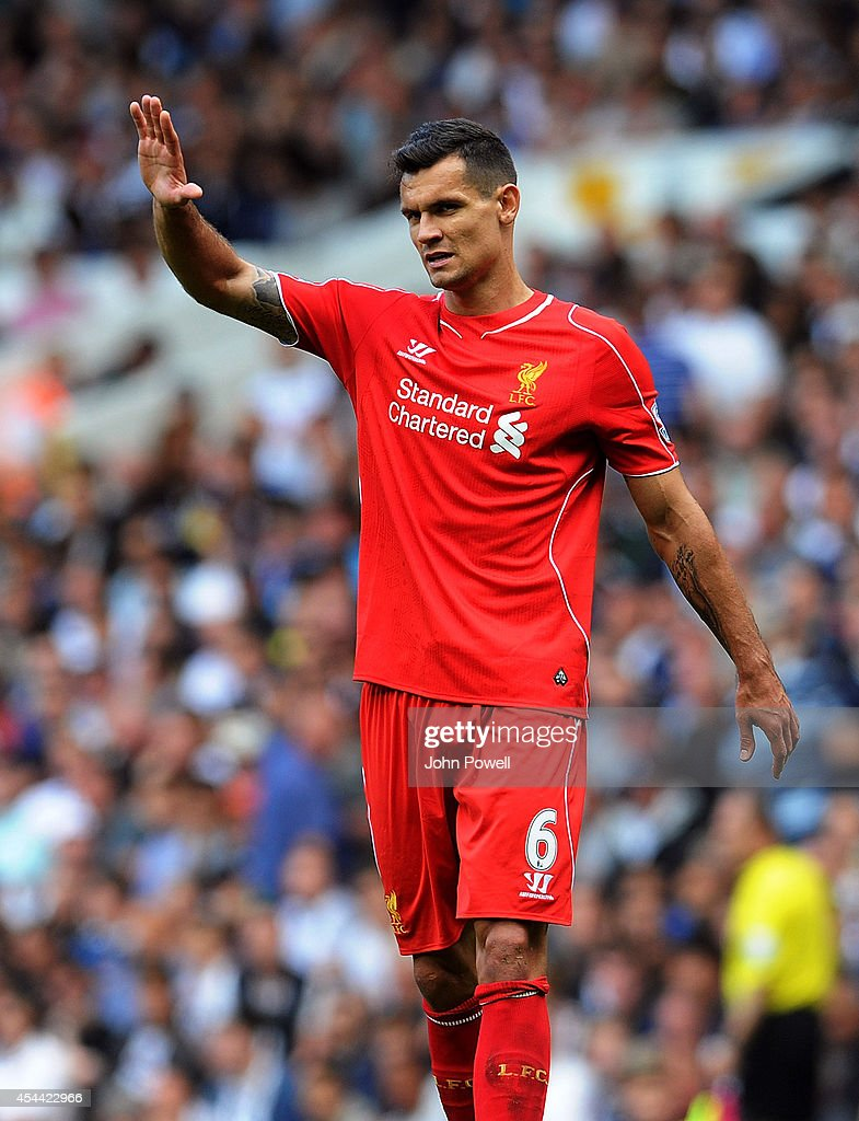Dejan Lovren of Liverpool during the Barclays Premier League match between Tottenham Hotspur and Liverpool at White Hart Lane on August 31, 2014 in London, England.