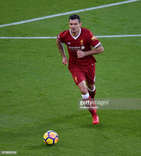 Dejan Lovren of Liverpool during the Premier League match between Liverpool and Southampton at Anfield on November 18 2017 in Liverpool England