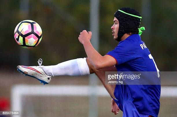 Dejan Pandurevic of Manly United controls the ball during the NSW NPL 1 Elimination Final between Manly United FC and Sydney Olympic FC at Cromer...