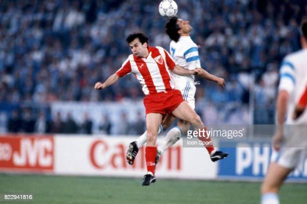 Dejan SAVICEVIC / Bernard CASONI Marseille / Etoile Rouge Belgrade Finale Coupe d'Europe des Clubs Champions Bari