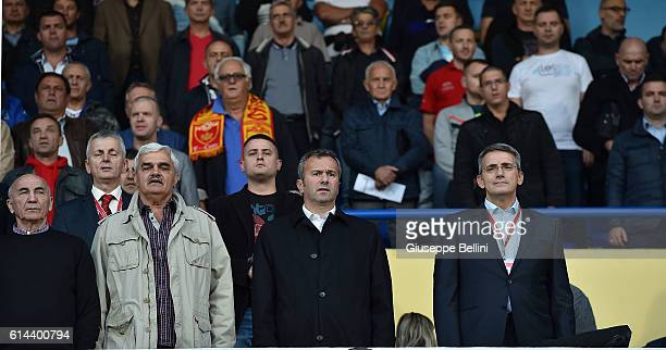 Dejan Savicevic President of FSCG of Montenegro prior the FIFA 2018 World Cup Qualifier between Montenegro and Kazakhstan at Podgorica City Stadium...