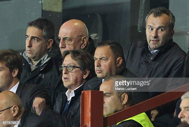 Dejan Savicevic sits in the stands during the Serie A match between UC Sampdoria and AC Milan at Stadio Luigi Ferraris on April 17 2016 in Genoa Italy