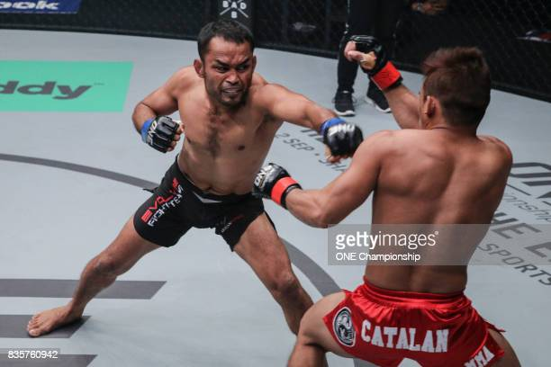 Dejdamrong Sor Amnuaysirichoke shows off his worldclass Muay Thai against Robin Catalan scoring a TKO win during ONE Championship Quest For Greatness...