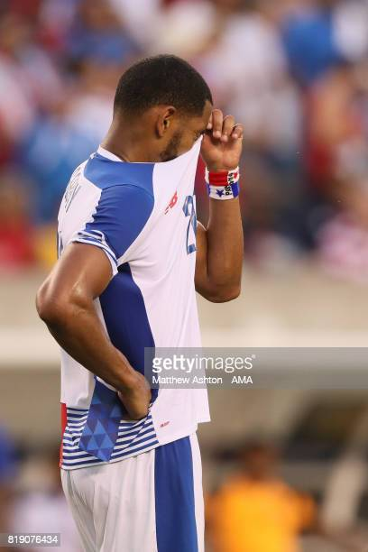 A dejected Aníbal Godoy of Panama after losing 10 and being knocked out of the tournament during the 2017 CONCACAF Gold Cup Quarter Final match...