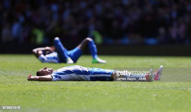 A dejected Anthony Knockaert of Brighton Hove Albion at full time after the Sky Bet Championship match between Aston Villa and Brighton Hove Albion...