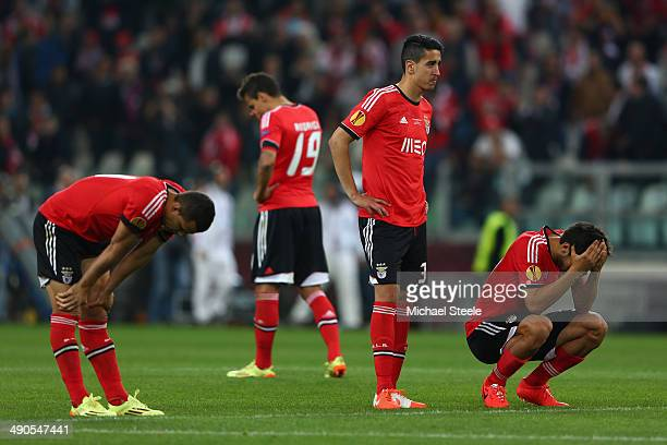 Dejected Benfica players looks on after defeat in the penalty shoot out during the UEFA Europa League Final match between Sevilla FC and SL Benfica...