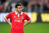 A dejected Eduardo Salvio of Benfica looks on during the UEFA Europa League Final between SL Benfica and Chelsea FC at Amsterdam Arena on May 15 2013...