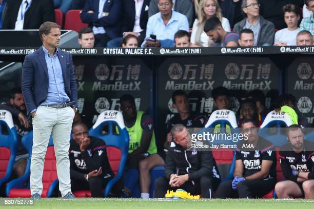 A dejected Frank de Boer head coach / manager of Crystal Palace during the Premier League match between Crystal Palace and Huddersfield Town at...