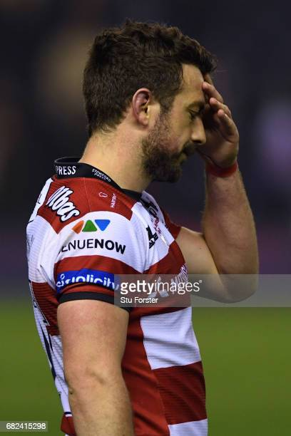 A dejected Greig Laidlaw of Gloucester reacts following his team's 2517 defeat during the European Rugby Challenge Cup Final between Gloucester and...