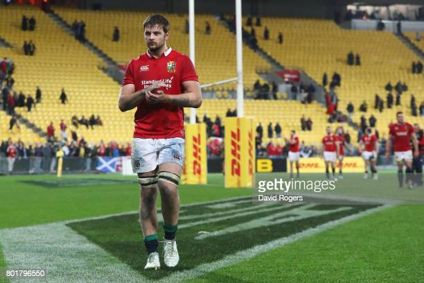 A dejected Iain Henderson of the Lions walks off the pitch following the 3131 draw during the 2017 British Irish Lions tour match between the...