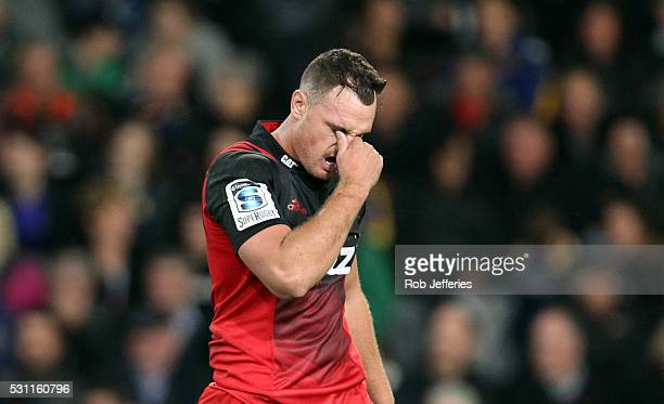 A dejected Israel Dagg of the Crusaders after their loss to the Highlanders during the round twelve Super Rugby match between the Highlanders and the...