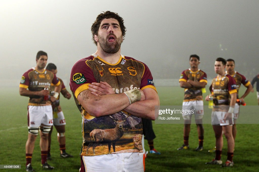 A dejected Jamie Mackintosh of Southland looks on after losing to Otago during the ITM Cup match between Southland and Otago on August 30, 2014 in Invercargill, New Zealand.