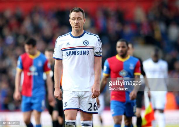 A dejected John Terry of Chelsea walks off the pitch following his team's 10 defeat during the Barclays Premier League match between Crystal Palace...
