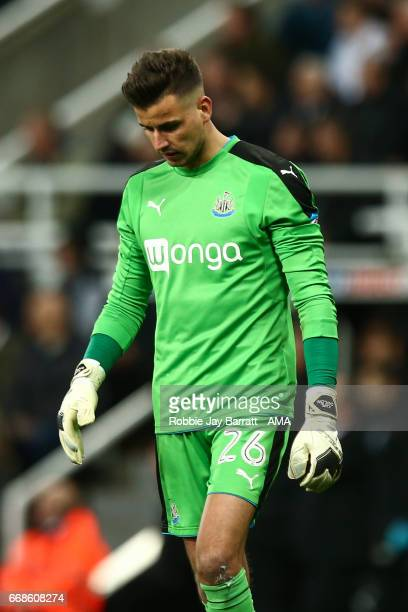 A dejected Karl Darrow of Newcastle United at full time during the Sky Bet Championship match between Newcastle United and Leeds United at St James'...