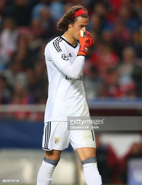 A dejected looking Mile Svilar of Benfica during the UEFA Champions League group A match between SL Benfica and Manchester United at Estadio da Luz...