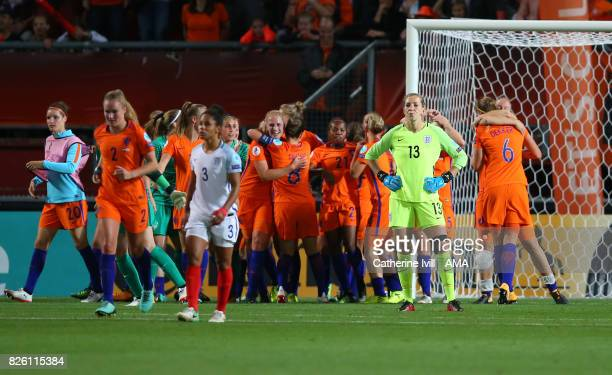 A dejected looking Siobhan Chamberlain of England Women after the UEFA Women's Euro 2017 semi final match between Netherlands and England at De...
