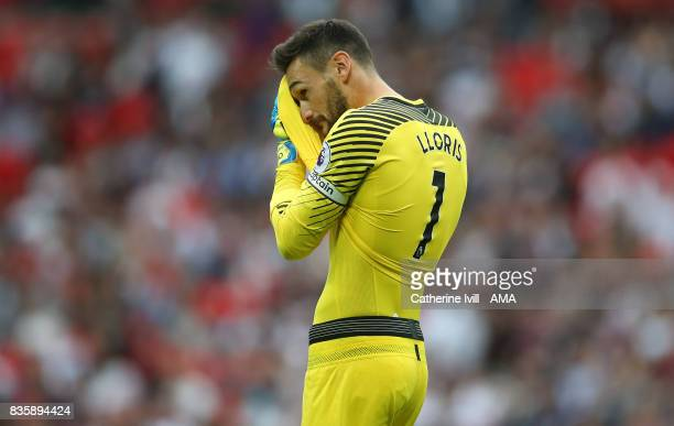 A dejected looking Tottenham Hotspur goalkeeper Hugo Lloris during the Premier League match between Tottenham Hotspur and Chelsea at Wembley Stadium...