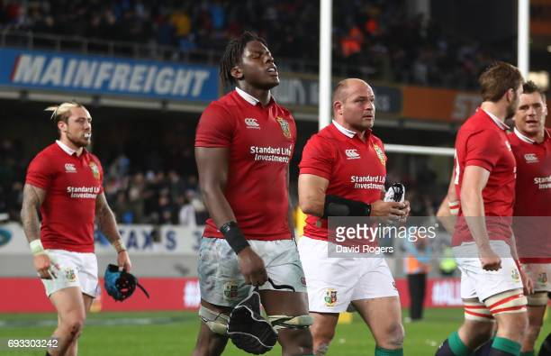 A dejected Maro Itoje of the British Irish Lions and teammates walk off the pitch following their 2216 defeat during the 2017 British Irish Lions...