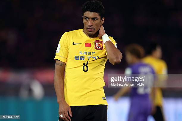 A dejected Paulinho of Guangzhou Evergrande FC during the FIFA Club World Cup 3rd Place Match between Sanfrecce Hiroshima and Guangzhou Evergrande FC...