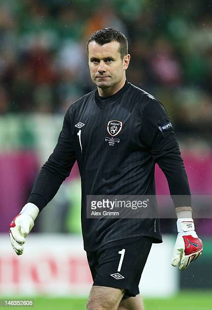 Dejected Shay Given of Republic of Ireland after the UEFA EURO 2012 group C match between Spain and Ireland at The Municipal Stadium on June 14 2012...