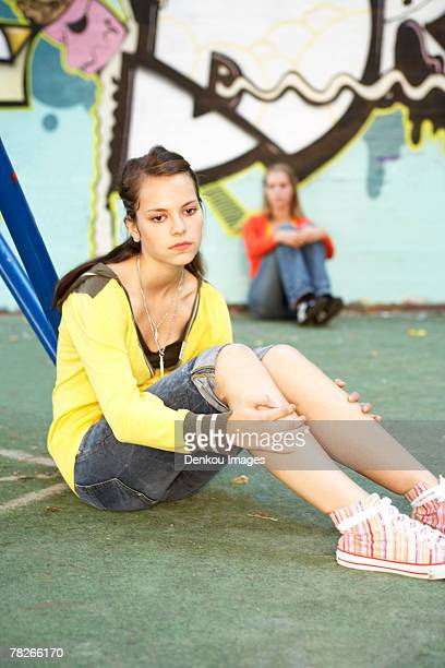 A dejected teenage girl.