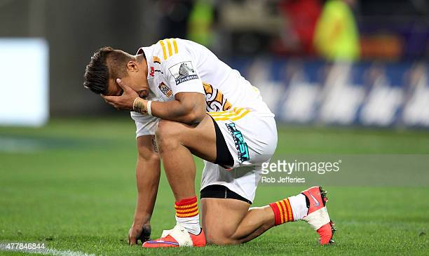 A dejected Tim NanaiWilliams of the Chiefs after their loss tothe Highlanders during the Super Rugby Qualifying Final match between the Highlanders...